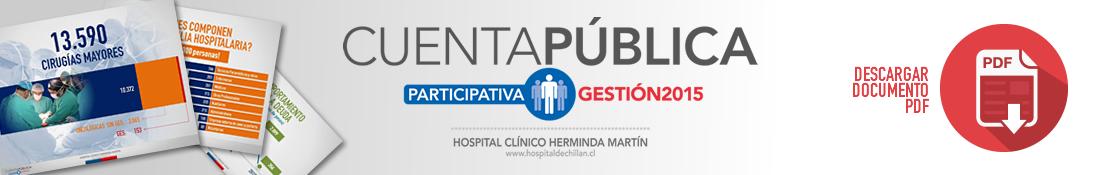 Cuenta Pública - Gestión 2015