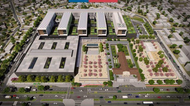 foto de la maqueta virtual del Nuevo Hospital de Ñuble