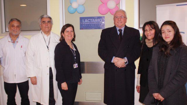 Foto del cambio de nombre del Lactario del Hospital
