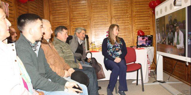 Foto de conexión entre HCHM y Hospital Las Higueras, en Jornada Educativa para usuarios con patologías cardíacas