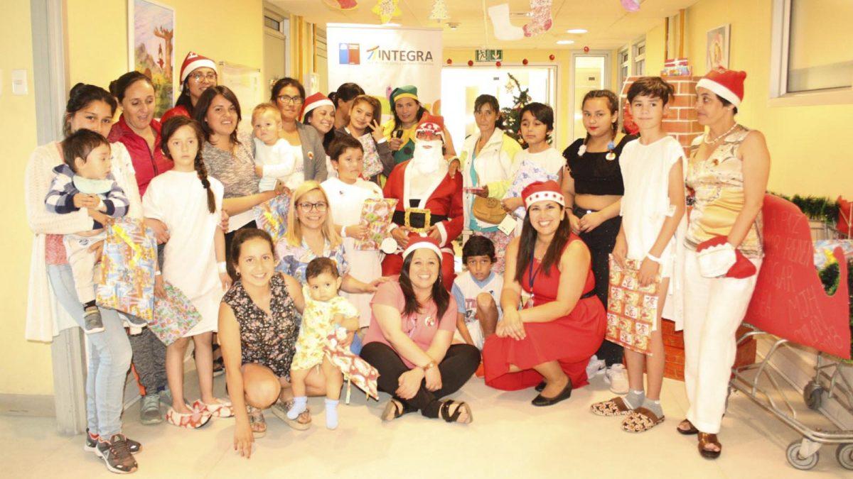 Foto de celebración navideña en el Hospital