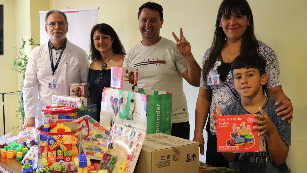 Familia entregó donación en agradecimiento