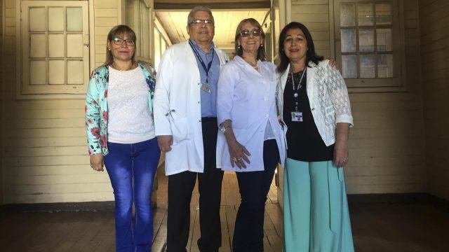Funcionarios del Hospital Herminda Martín asistieron a la despedida del San Juan de Dios