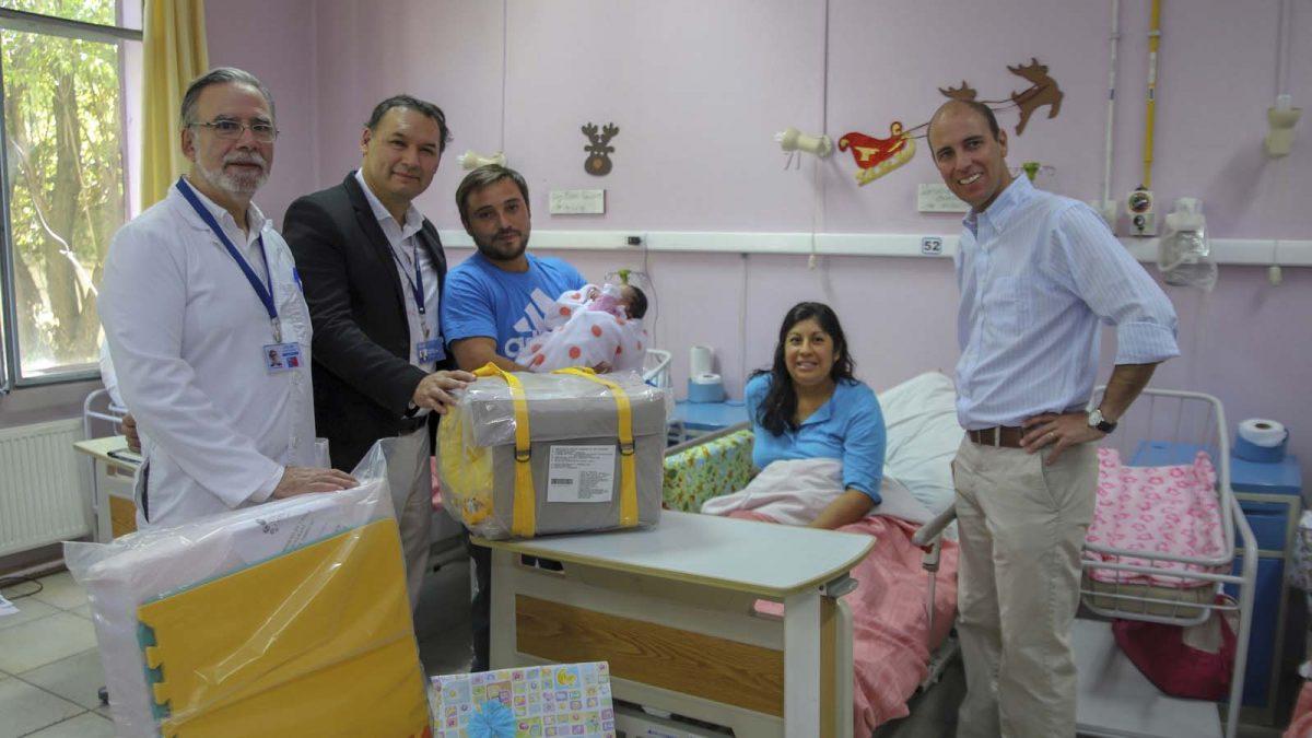 foto de la primera recién nacida de 2019 en Ñuble