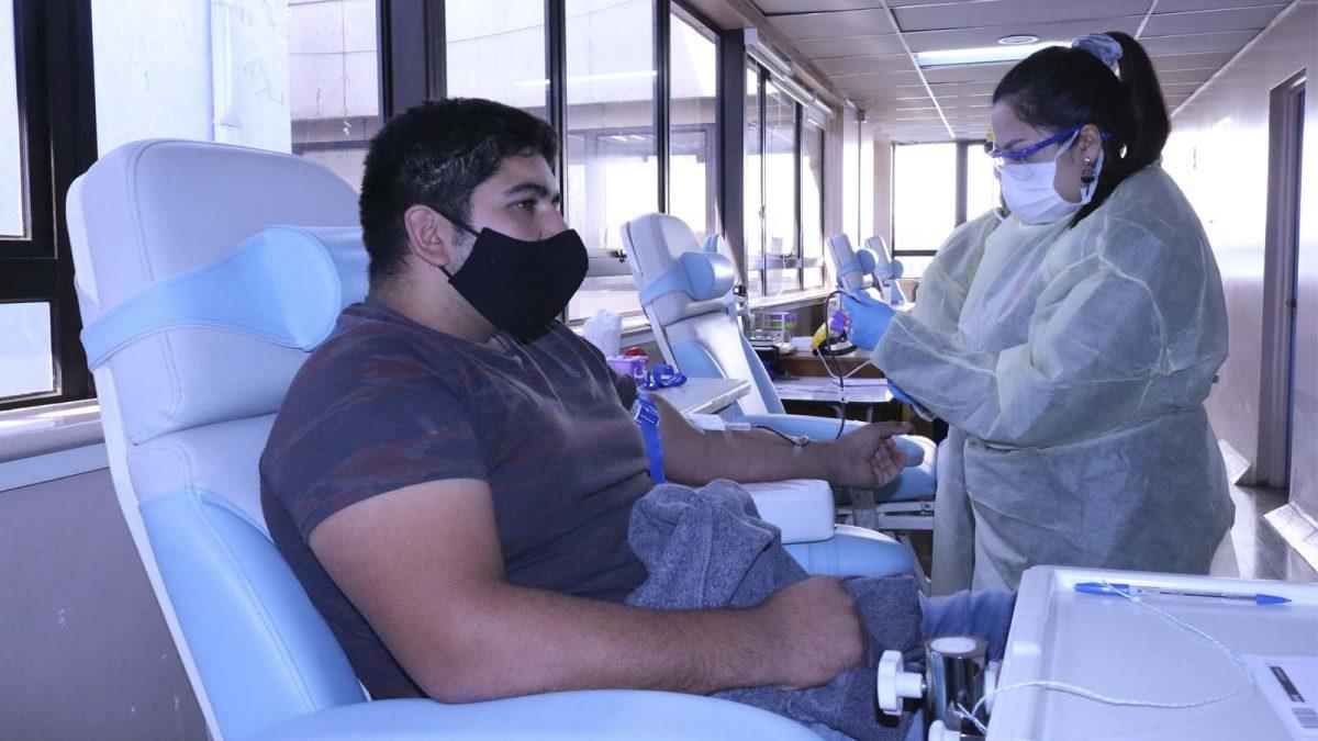 Donación de sangre en el hospital